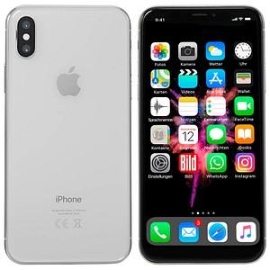 Apple iPhone X silber 64 GB